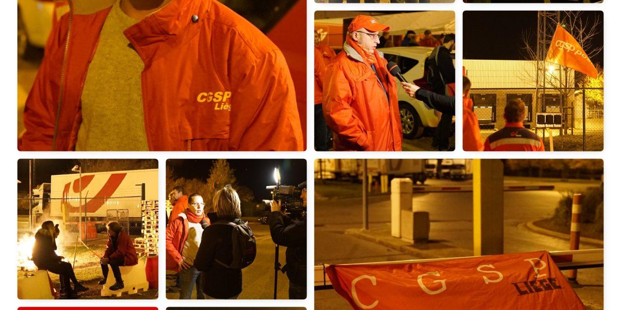 06-11-18 : Grève de la Poste – Centre de tri Awans (Vidéo)