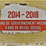 2014-2018 : 4 ans de gouvernement Michel, 4 ans de recul social