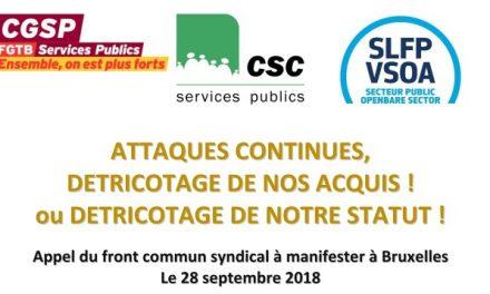 Mobilisation pour la manifestation du 28 septembre