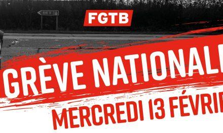 13/02/2019 : Grève en Front Commun – Les travailleurs méritent du respect !