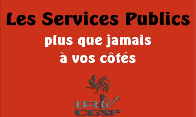 Les Services Publics plus que jamais à vos cotés !